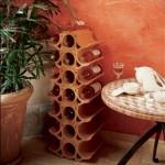 franskt vinställ terracotta
